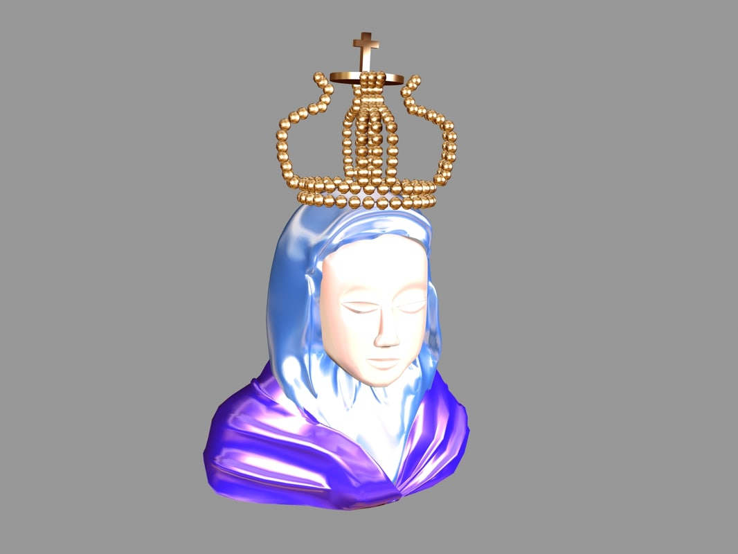 mother mary statue 3d max