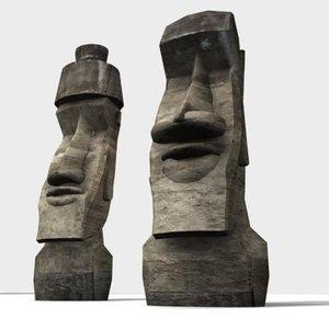 moai island 3d model