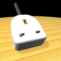 3d model of extension socket
