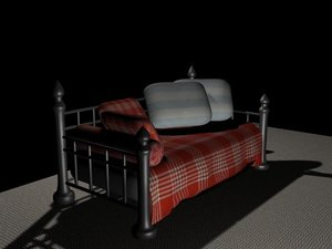 3d model daybed bed