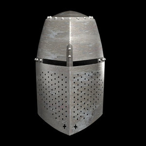 3d medieval crusader helmet model