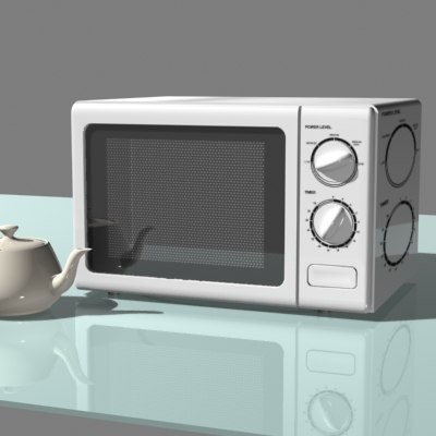 3d microwave oven model