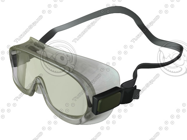 3d model plastic safety goggles