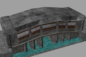 covered bridge 3d 3dm
