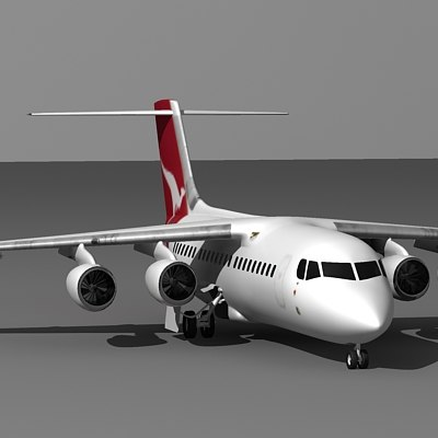 3d model of 146-200 aircraft