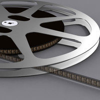 3d model film reel 16mm
