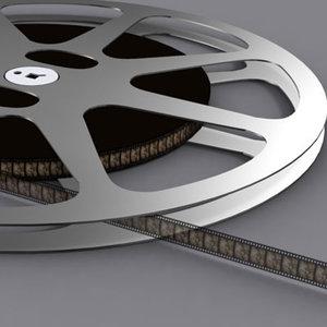 3d model film reel 16mm