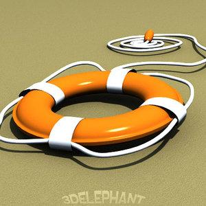 lifesaver 3d model