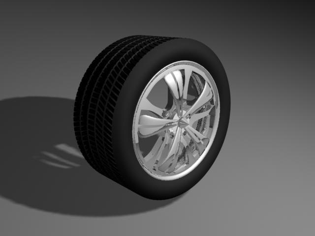 3d spinner rim tire chrome