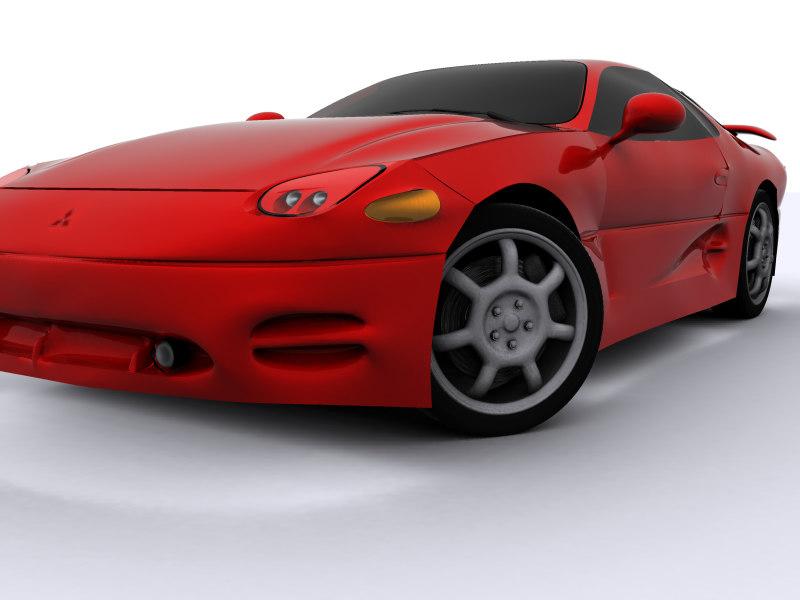 modeled 1994-1996 mitsubishi 3000gt 3d model