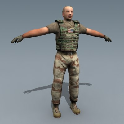 army driver 3d max