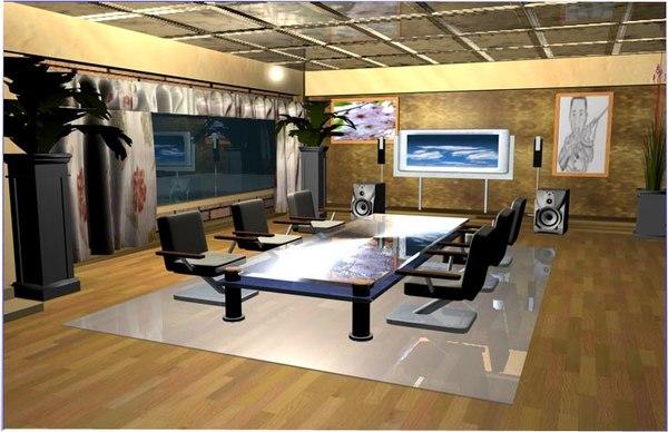 d meeting room 3d model