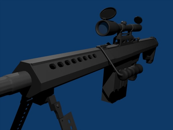 free barret m82a1 m82 3d model
