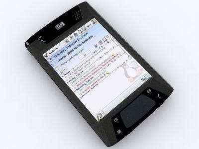 3d model ipaq hx4700 pda