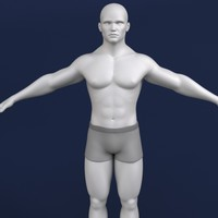 polygonal male character human 3d model