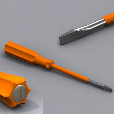 3d screwdriver screw