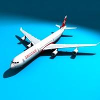 max airbus 340-300 airliner