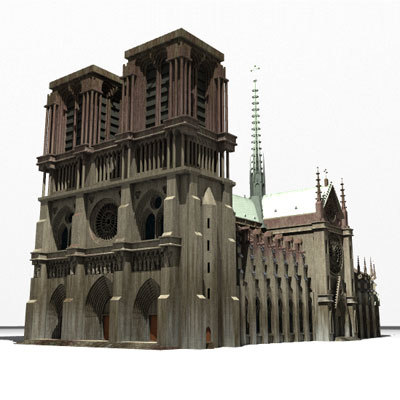 3d notre dame cathedral