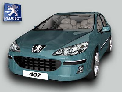 peugeot 407 paladine 3d model