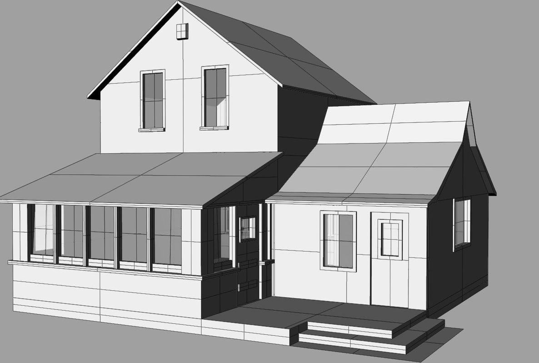 house flat residence 3d 3dm