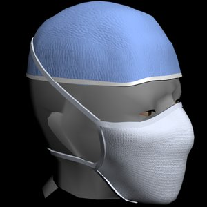 medical mask 3d obj