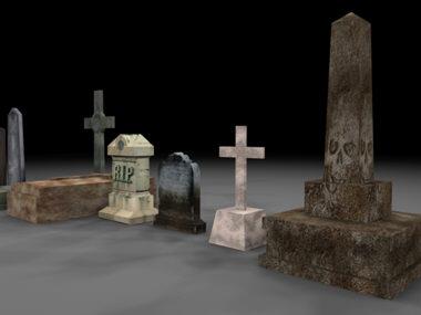 gravestones graveyard 3d ma