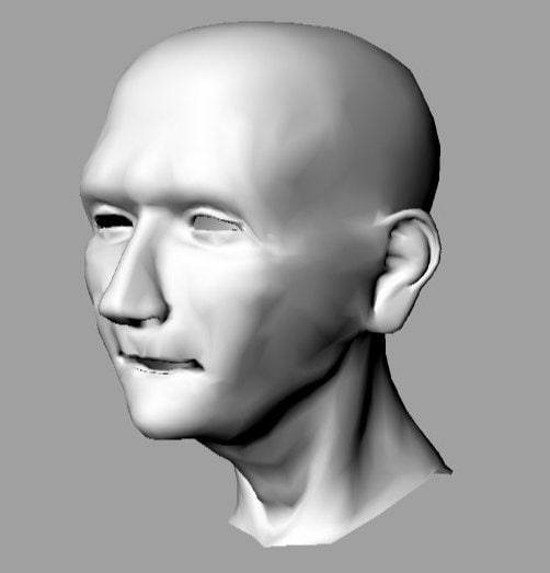 3ds max old man head