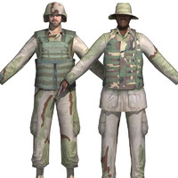 soldiers camo realtime 3d model