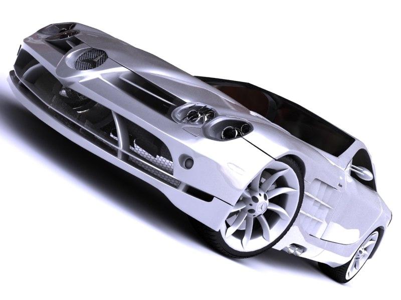 3d model of mercedes slr