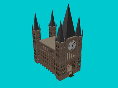 3d cathedral model