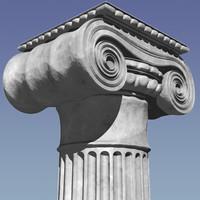 roman ionic classic column 3d model