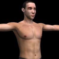 3ds max realistic male body