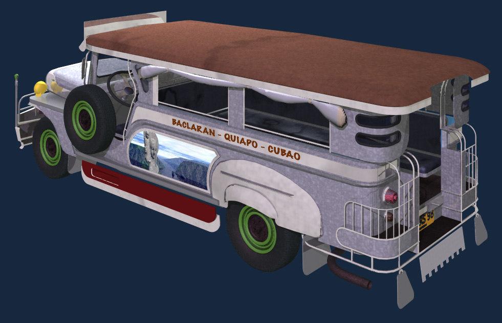 3d philippine jeepney model