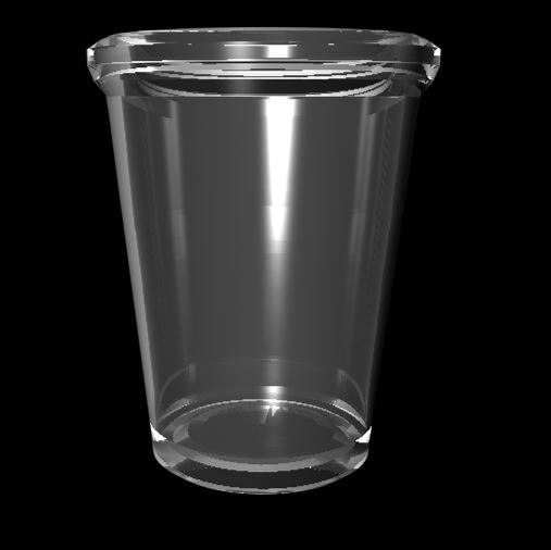 free cup glass water 3d model