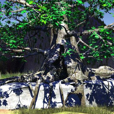 3dsmax black old tree