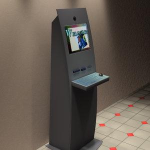 3d pc computer kiosk model