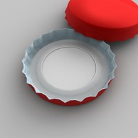 bottle cap 3d model