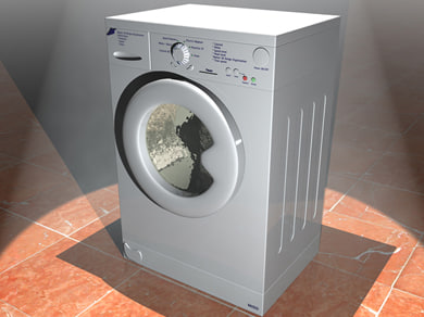 3d model electronical washer machine