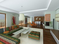lights photorealistic interior 3d model