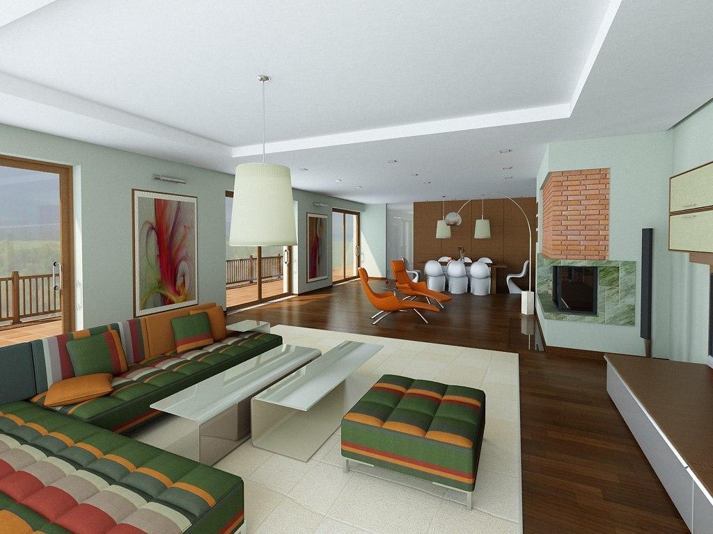lights photorealistic interior 3d model