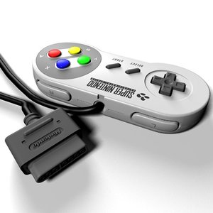 3d super nintendo joypad model