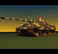 german wwii tiger ii 3d model