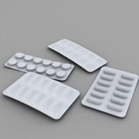 pill blisters 3d model