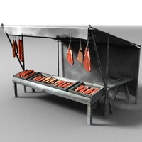 stall_meat_lowpoly