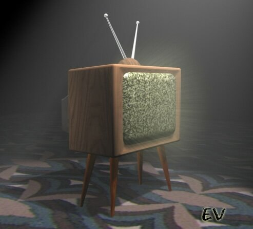 old tv set 3d 3ds