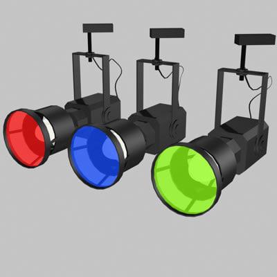 obj spot light 01 lamp