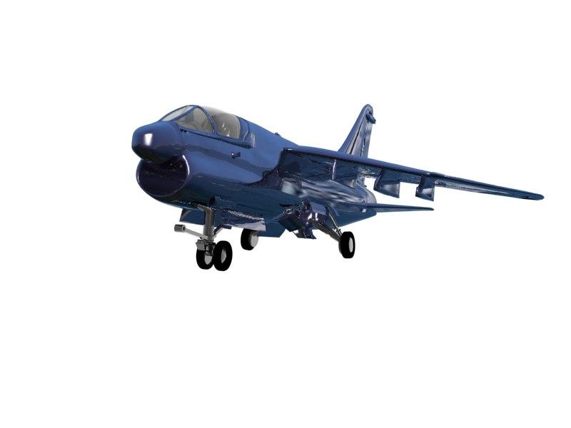 a7 vought corsair 3d model
