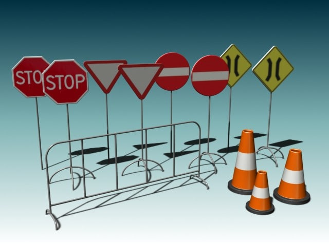 3ds max street sign pack 1