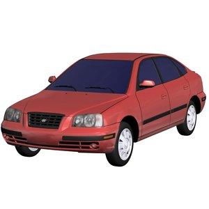 3d model hyundai elantra 2005