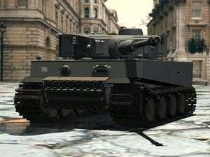 3d tiger initial tank track